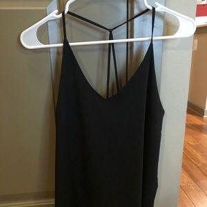 Black strappy halter cami